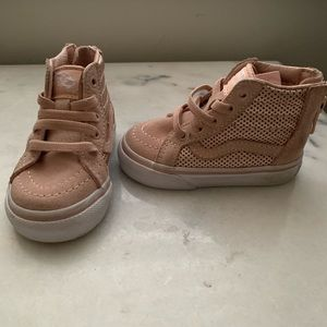 Vans Sk8 High zip toddler (rose gold)